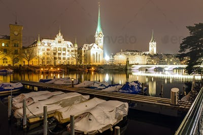 A winter night in Zurich