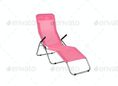 lounge beach chair isolated