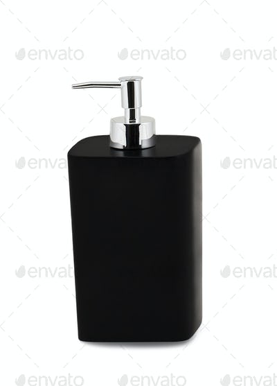 Glass pump soap bottle