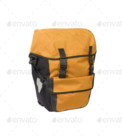 Orange bag isolated on white