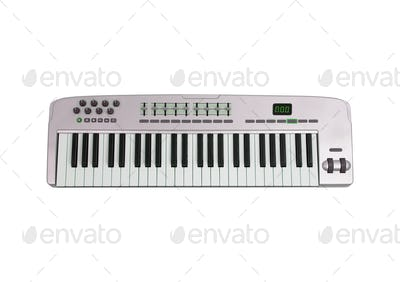 Music keyboard isolated on white