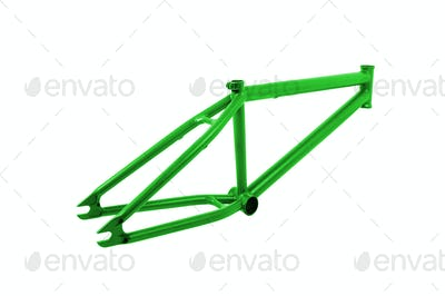 Bicycle frame isolated on white