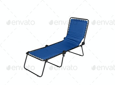 Blue lounger isolated on white