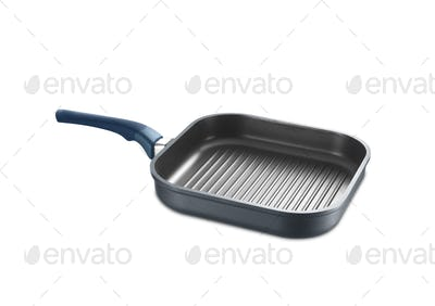 Square grill pan isolated on white background