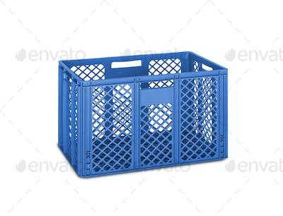 blue folding box isolated on white
