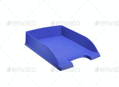 Office papper tray. On a white background.