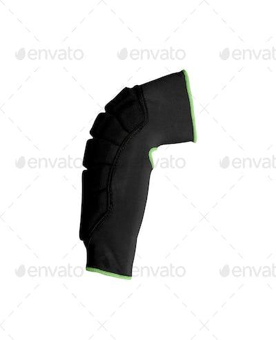 Knee-cap bondage isolated on white