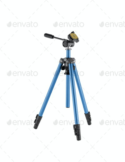 Camera stand tripod isolated on white background