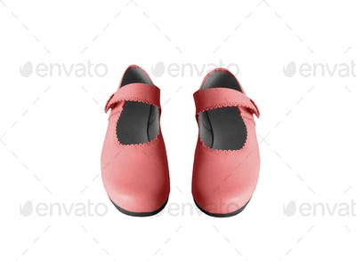 Court red shoes isolated on white background