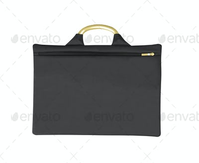 Black thin bag isolated on white