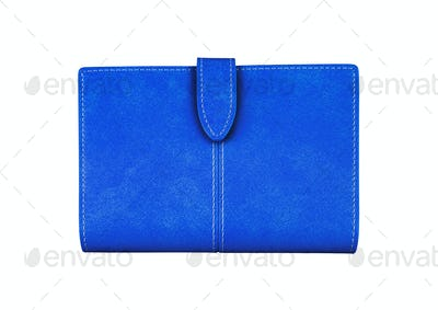 Blue Wallet. On a white background.