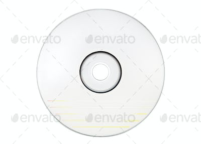 Blank White Disc with Clipping Path Isolated on a White Background