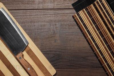 Kitchen Utensils On Brown Wooden Table