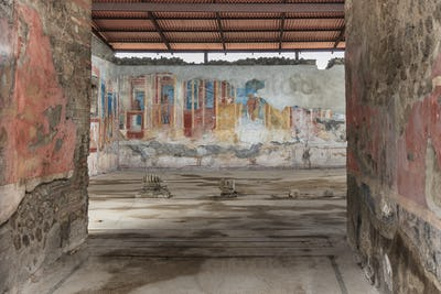 Ancient fresco at Pompeii