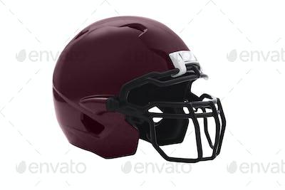 Brown Football Helmet on white