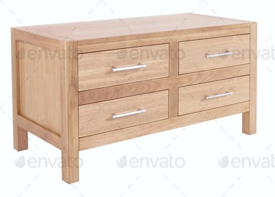 Chest of Drawers isolated with clipping path