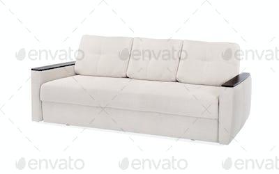 textile sofa isolated