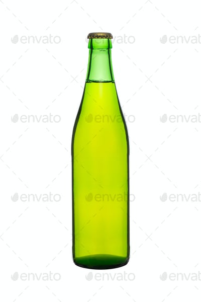 Beer bottle isolated on white background