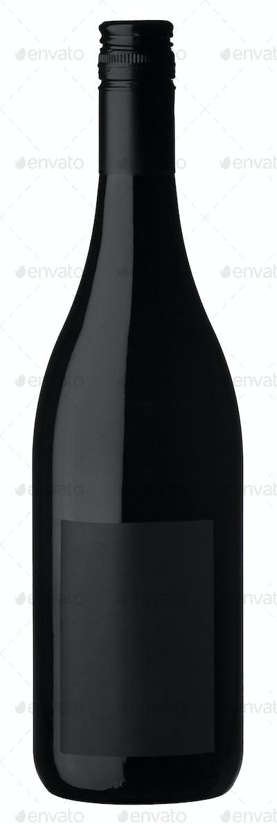 Beautiful black bottle isolated on white