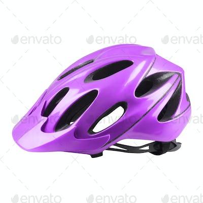 Velvet bike helmet on white background