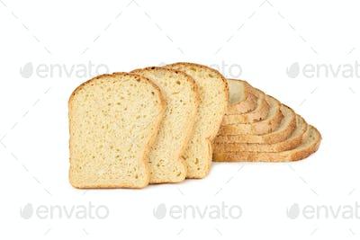 wheaten bread sliced, on white