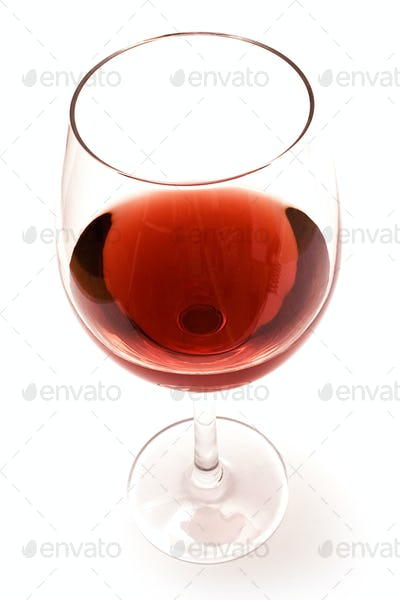Glass of Red Wine Isolated on a White Background