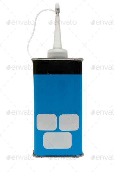 Oil Can with Clipping Path Isolated on a White Background