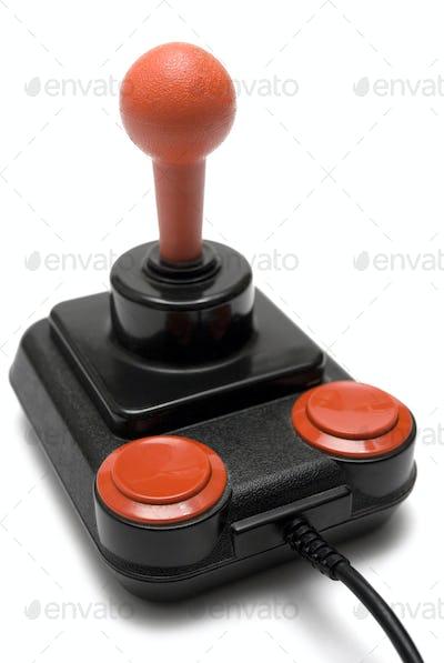 Classic Retro Joystick Isolated on a White Background
