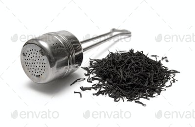 Tea Time Isolated on a White Background