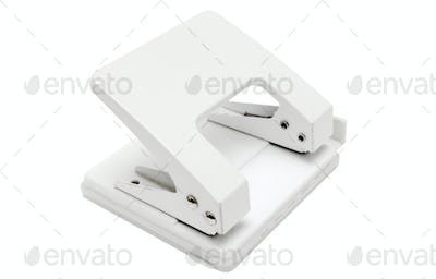 White Hole Puncher with Clipping Path Isolated on a White Background