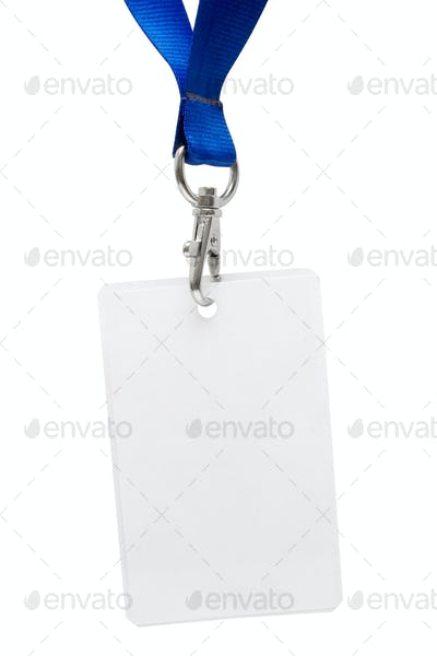Press Pass with Clipping Path Isolated on a White Background