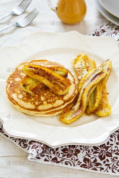 Pancake with banana