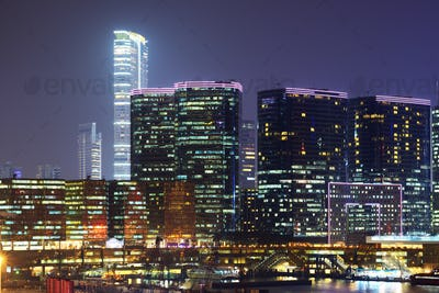 Hong Kong at Kowloon Skyline
