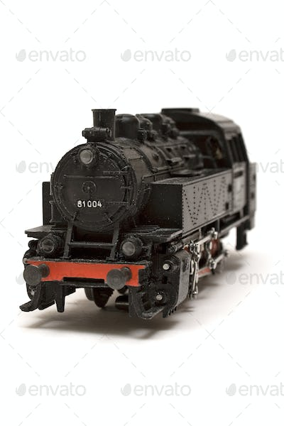 Locomotive Model Isolated on a White Background
