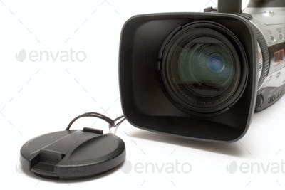 Digital Camera Detail Isolated on a White Background