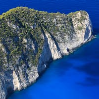 mountain slope in sea