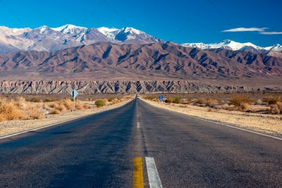 Scenic road in northern Argentina