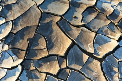 texture on dry land