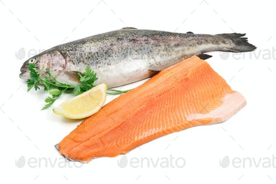 trout and fillet
