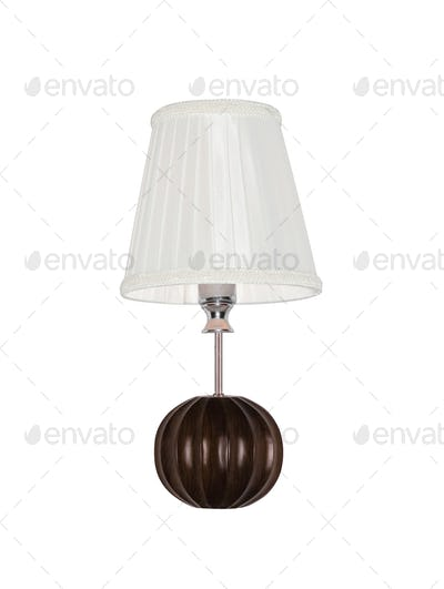 Vintage table lamp isolated