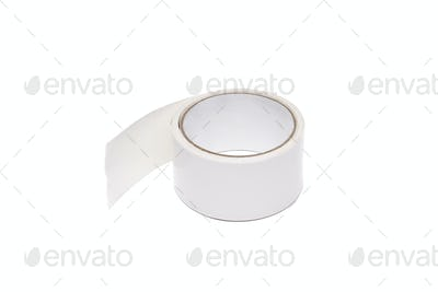 a roll of white adhesive tape