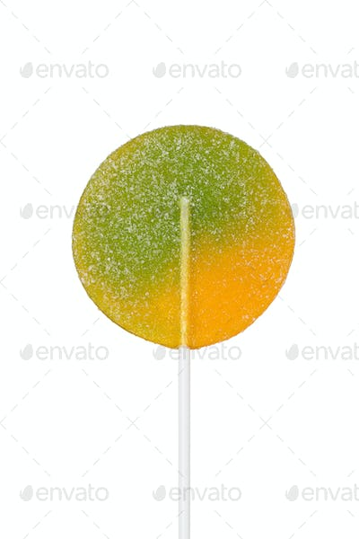 Large lollipop on stick isolated on white