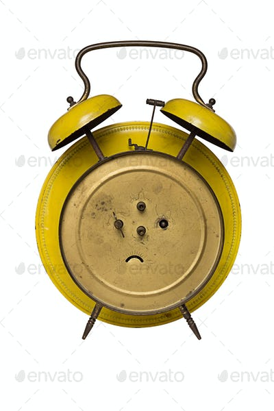 back of an old alarm clock