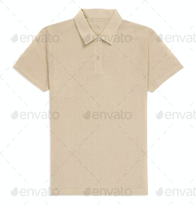 Creme t-shirt isolated