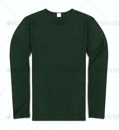 long sleeve shirt isolated on white