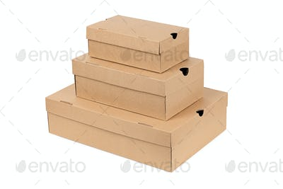 Stack of boxes isolated on white background
