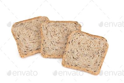 bread sliced, on white