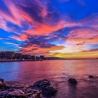 dramatic sunrise sky