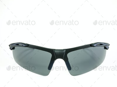 Sports style sunglasses isolated on white