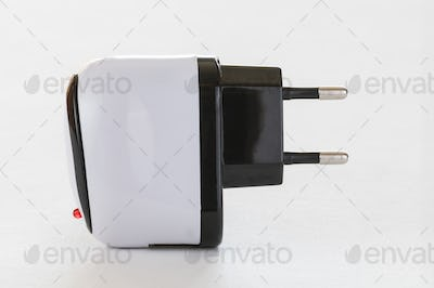 Black and white Voltage adapter